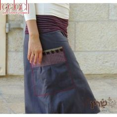 Purple Skirt-Pants All in One
