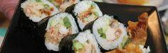 spider sushi roll with tempura soft shell crab.....mmmmmmm