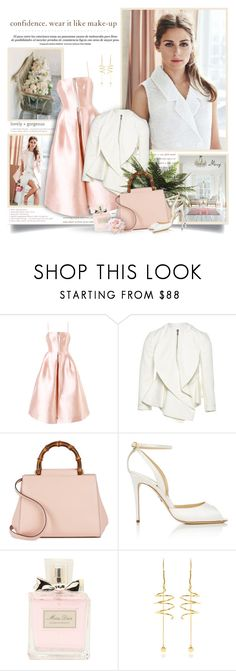 """""""Confidence"""" by thewondersoffashion ❤ liked on Polyvore featuring Storia, Alex Perry, Givenchy, Gucci, Christian Dior, E L L E R Y, OliviaPalermo, gucci, AlexPerry and paulandrew"""
