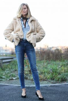 High-Waisted Ankle Jeans