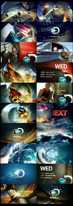 DISCOVERY CHANNEL REBRAND by marcos vaz, via Behance