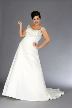 2013 Plus Size Wedding Dresses A Line V Neck Court Train Taffeta AUD 230.60 EPP5NQEY5H - ElleProm.com -  For more amazing deals visit us at http://www.brides-book.com/#!brides-book-outlets/ck9l and remember to join the VIB Ciub