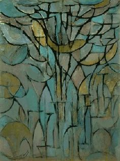 Trees' painting by Piet Mondrian. Vintage wall art for sale; fine art prints and painting reproductions Piet Mondrian, Dutch Artists, Famous Artists, Dutch Painters, Art Moderne, Monochrom, Kandinsky, Surreal Art, Tree Art