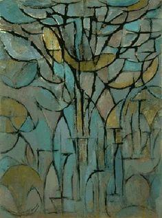 Tree by Piet Mondrian, 1872-1944.