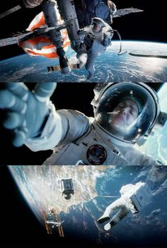 Gravity (2013) - Great storytelling where the mind-blowing special effects actually enhance the story instead of overwhelming it. See it in IMAX - it is worth it Gravity Movie, Gravity 2013, Go To Movies, Movies And Tv Shows, Sandra Bullock, Pulp Fiction, Science Fiction, Oscars 2014, Film Serie