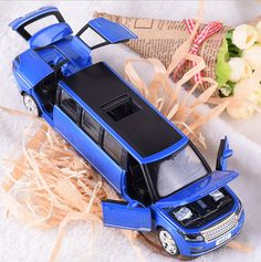 Hot 1:32 scale diecast cars stretch land range rover suv metal model with light and sound open door pull back alloy toys wheels #Affiliate