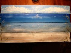 Ocean beachscape pallet art sign nautical by SoulSisterPalletShop
