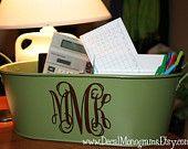 Monogram ANY plastic, metal, tin, etc. container!!!