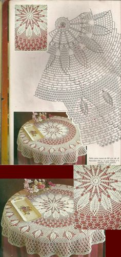 liveinternet.ru Crochet Doily Diagram, Crochet Doily Patterns, Thread Crochet, Filet Crochet, Crochet Table Runner, Crochet Tablecloth, Mantel Redondo, Crochet Dollies, Crochet Cardigan