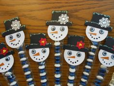 Gotta Stamp With Suzanne Snowmen Treat Toppers (Suzanne Johnson)