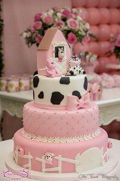 Baby animals farm birthday parties 58 Ideas for 2019 Farm Birthday Cakes, Cow Birthday Parties, 2 Birthday, Farm Animal Birthday, Cowgirl Birthday, Birthday Cake Girls, Birthday Ideas, Farm Cake, Farm Party