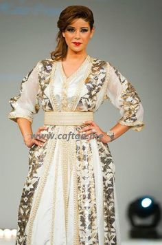 Wonderful caftan worn by Laila Hadioui See on Caftan.me