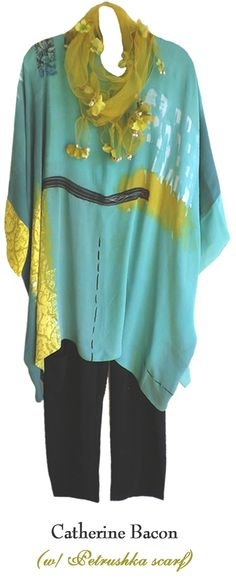 Love this Catherine Bacon top (minus the Petrushka scarf)