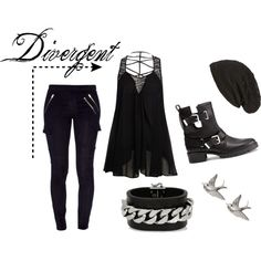 #Rock style inspired by the edgy Divergent book series by Veronica Roth.