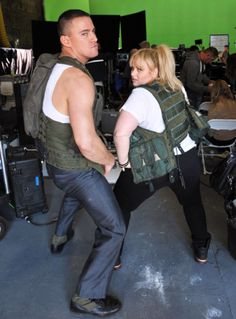 Behind the scenes with star Rebel Wilson and Channing Tatum. | MTV Photo Gallery