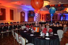 Fire and Ice themed Bar and Bat Mitzvah.  Presidential Room, Anthony's Pier 9, New Windsor NY www.piernine.com