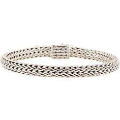Pre-owned John Hardy Classic Chain Bracelet ($225) ❤ liked on Polyvore featuring jewelry, bracelets, sterling silver bangles, john hardy jewellery, john hardy jewelry, chains jewelry and john hardy bangle