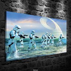 Oil Painting Hd Print Wall Decor Art On Canvas Star Wars Stormtrooper 20X32In