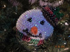 SALE:  Frosty Sequined Ornament by Sunrise Craft and Hobby Co. by NanaJansXmasCrafts on Etsy