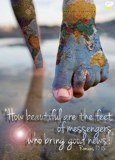Hermosos son los pies de los que anuncian la paz.