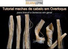 Video tutorial ensinando o passo a passo para fazer as mechas de cabelo para noivinhos ou bonecas em geral, usando o fio de Overloque.