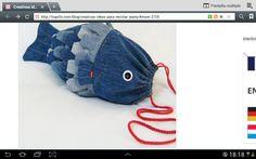 Bolso pescado con tela