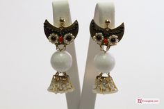 Owlet Earrings [Agate, Pearls, Coral, Onyx] in Gold Plated Silver - Orecchini Gufetto [Agata, Perle, Corallo, Onice] in Argento 925 placcato Oro #jewelery #luxury #trend #fashion #style #italianstyle #lifestyle #gold #store #collection #shop #shopping  #showroom #mode #chic #love #loveit #lovely #style #all_shots #beautiful #pretty #madeinitaly