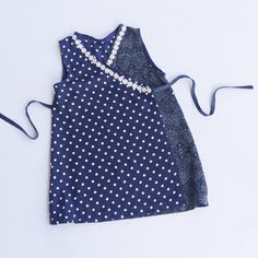 Girls Wrap Around Frock Dottie Size 3 years by WhatTheFrockNZ on Etsy