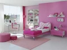Pink Teenage Room kids bedroom ideas | focal wall, bedroom pictures and simple designs