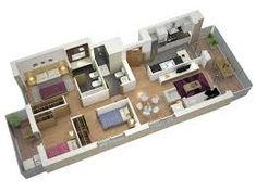 Hasil gambar untuk denah rumah type 45 3 kamar tidur