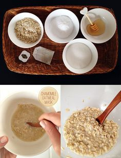 DIY: oatmeal camomile face mask