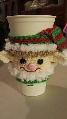 Ravelry: Christmas Elf Cup Cozy pattern by Janet Rose