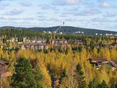 Neulamäki and Puijo tower in Autumn.