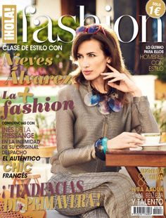 Nieves Álvarez in Giorgio #Armani on the cover of ¡HOLA! Fashion