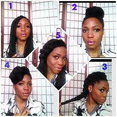 "5 Ways to rock your Box Braids when they've been in too long and start to look ""rachet""! Which style is your fav? - @Nicole Novembrino Novembrino Novembrino Novembrino Novembrino Achorn Tackie- #webstagram - BRAIDS / BOX BRAIDS / PROTECTIVE HAIRSTYLE / POETIC JUSTIC BRAIDS / DOOKIE BRAIDS / SYNTHETIC HAIRSTYLE"
