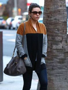 Spotted: #MilaKunis in #Gypsy05 Cashmere Cardigan Sweater