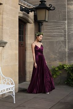 MAID FOR EACH OTHER: Mix and match burgundy bridesmaid styles