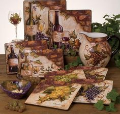 Grapes And Wine Kitchen Decor For Sale 18 10 Kaartenstemp Nl
