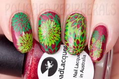 Lilypad Lacquer Rebel at Heart stamped with Mundo de Uñas stamping polish and Messy Mansion plate MM20.