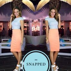SATURDAY STYLE... How gorgeous does this KOOKAÏette, Danielle look in our Çoco Cropped Top $120 and Chic Skirt $60, both now available in boutiques.  Thank you for sharing Xx