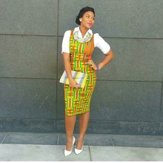 Smart Look // Kente Inspired   @enma_and_i  #ankarastyles #ankarafashion #style #ankarastyle #fashion #africanprint