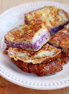 Blueberry Cream Cheese Stuffed French Toast. Bring on breakfast!