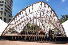 Bamboo Showcases its Flexibility in Hyperbolic Pavillion