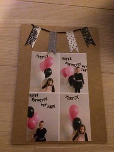 Hip hip hooray. DIY birthday invitation.