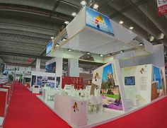 Construction of the #stand for @ATBIllesBalears at the present #IMEX14 edition in @messefrankfurt