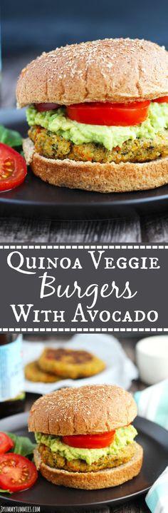 Quinoa Veggie Burgers with Avocado