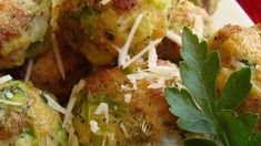 Parmesan Broccoli Balls Frozen broccoli and Parmesan cheese are blended with dry stuffing mix and rolled into delicious appetizer balls! Parmesan Broccoli, Fresh Broccoli, Broccoli And Cheese, Parmesan Pasta, Veggie Recipes, Cooking Recipes, Healthy Recipes, Frozen Broccoli Recipes, Broccoli Balls Recipe