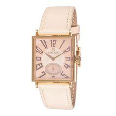 Ladies Aurigos Watch in Cream, Tan & Gold // luxury style + warm neutral