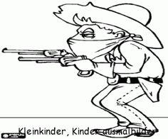 ausmalbilder cowboy 03