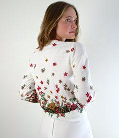 Beautiful Floral 60s Cardigan, http://etsy.me/18UqKTt